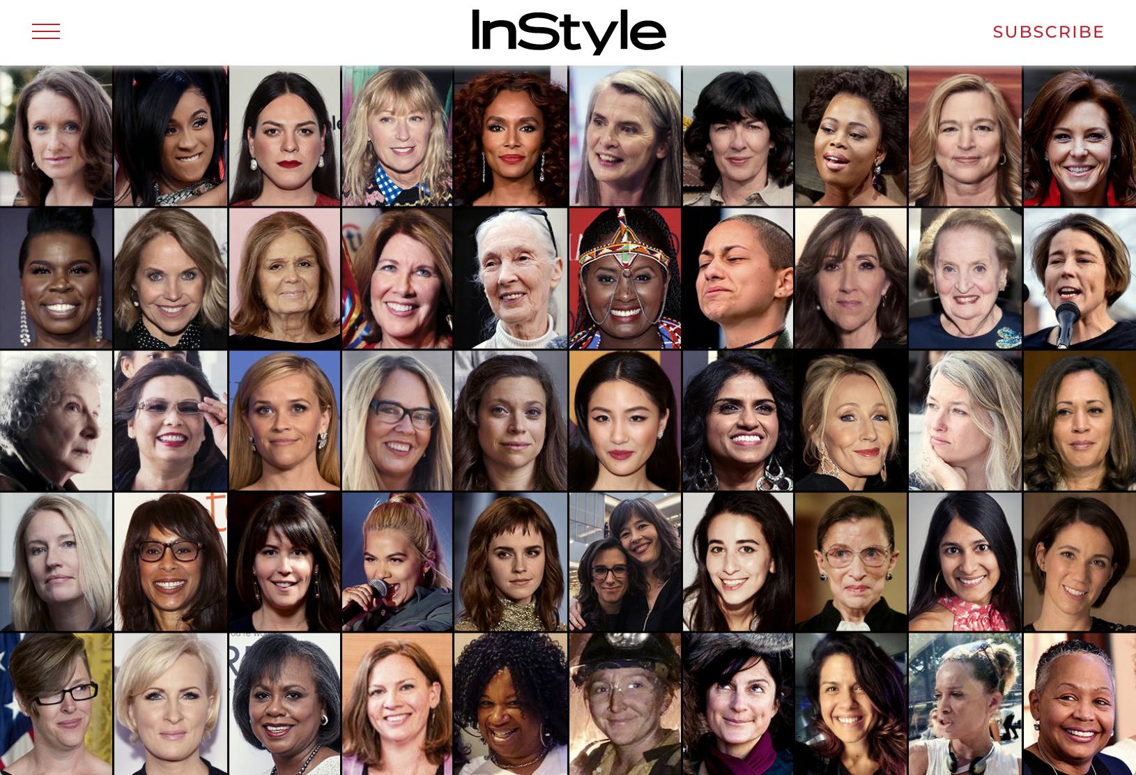 InStyle Magazine Badass Women List